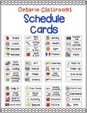Visual Schedule Cards (Ontario Classrooms)