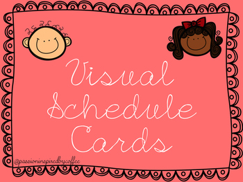 Visual Schedule Cards - Classrom & Individual Sizes