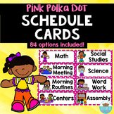 Visual Schedule Cards Pink Polka Dots