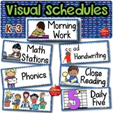 EDITABLE Picture Schedule Cards for Kindergarten to 3rd Gr