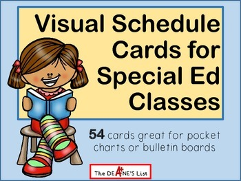 Visual Schedule Cards for Special Ed Classes