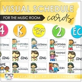 Visual Schedule Cards for the Music Room