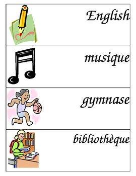 Visual Schedule - Colour - French