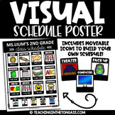 Visual Schedule Editable Poster