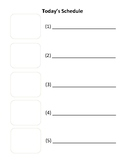 Visual Schedule FREE Blank Template
