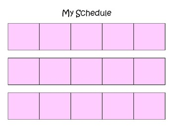 Visual Schedule - Girl of Colour