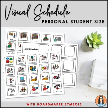 Visual Schedule Icons Boardmaker Symbols By Michelle Jung Tpt