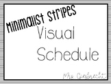 Visual Schedule - Minimal Black and White Stripes