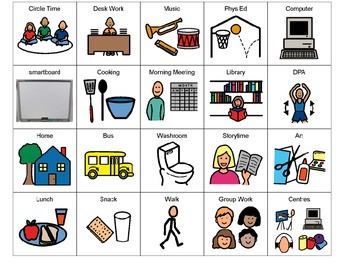Primary Visual Schedule Picture Symbols (PDF)