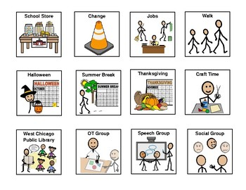 Visual Schedule Pictures 2x2