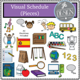Visual Schedule (Pieces) (JB Design Clip Art for Personal or Commercial Use)