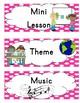 Visual Schedule- Pink Polka Dots