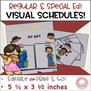 Visual Schedule:  Regular and Special Education, Editable
