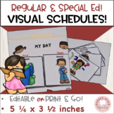 Visual Schedule and Cards for Regular and Special Education Editable