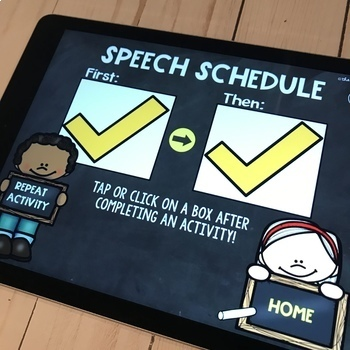 Visual Schedule Speech Therapy | No Print Speech Therapy | Google Slides™
