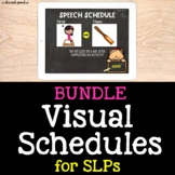 Visual Schedule Speech Therapy Bundle | No Print Speech Therapy | Google Slides™