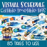 Visual Schedule Timetable Editable Watercolor Theme