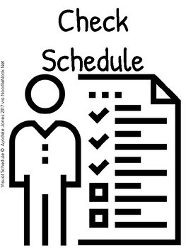 Visual Schedule for Students with Autism- Printable & Ready to Go!