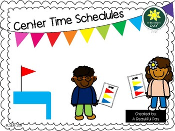 Visual Schedule for Centers FREEBIE