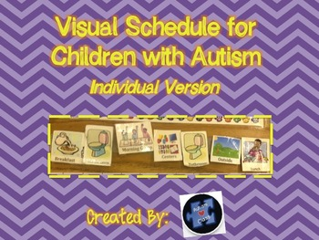 Visual Schedule for Children with Autism Individual Pieces