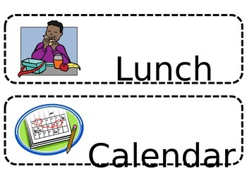 Visual Schedule for Classroom Managment or Special Education