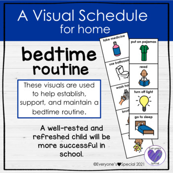 Visual Schedule for Home- Bedtime Routine