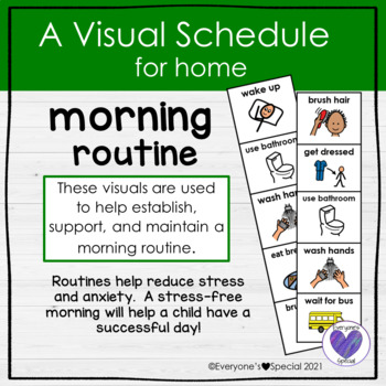Visual Schedule for Home- Morning Routine
