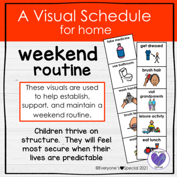 Visual Schedule for Home- Weekend Routine