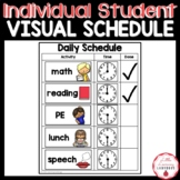 Visual Schedule for Individual Student Accommodations and