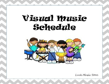 Visual Schedule for Music Class