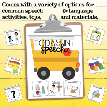 Visual Schedule for Speech Therapy