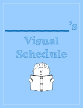 Visual Schedule for Students with Special Needs BLUE (PECS, Visuals, Schedule)