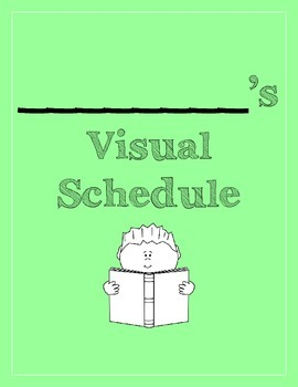 Visual Schedule for Students with Special Needs GREEN(PECS