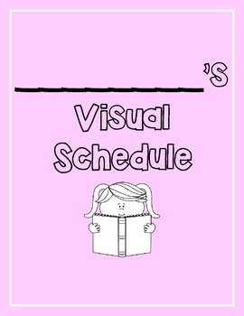 Visual Schedule for Students with Special Needs PINK (PECS