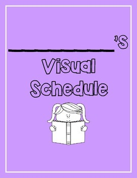 Visual Schedule for Students with Special Needs PURPLE (PECS, Visuals, Schedule)