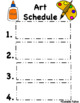 Visual Schedule for Theater Class (Editable, Special Education, Autism) FREEBIE