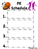 Visual Schedule for Theater Class (Editable, Special Educa