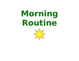 Visual Schedule of Morning Routine