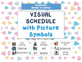 Shape of The Day Visual Schedule with Picture Symbols (Picture Communication)