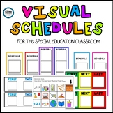 Visual Schedules (blank/editable options + pictures)- SPED/AUTISM