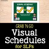 Grab 'N Go Visual Schedules for SLPs | Teletherapy | Dista