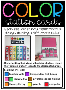 Visual Schedules for Autism and Special Education Classrooms