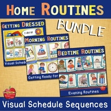 Visual Schedules for Home Routines BUNDLE: Dressing, Morni