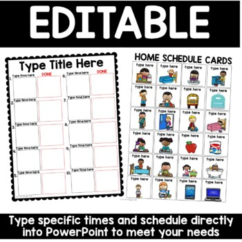 Visual Schedules for Home and After School: Editable