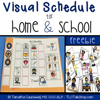 Visual Schedules for School & Home: FREEBIE