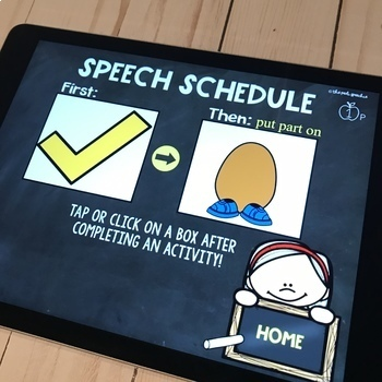 Visual Schedules | Speech and Language | No Print | No Prep Speech Therapy