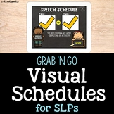 Visual Schedules for Speech and Language | No Print | No Prep Speech Therapy