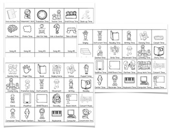 Visual Schedules for the Music Room