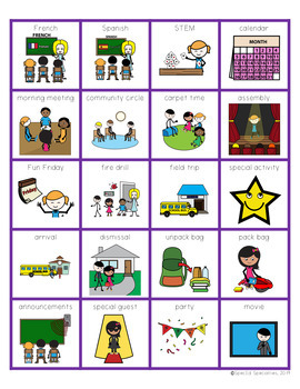 Visual Schedules for the Special Education and Regular Classrooms