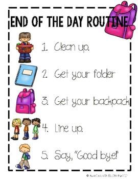 School Routine Poster Bundle (PBIS)